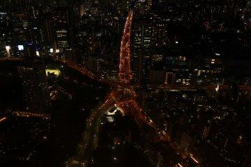 Vista de las calles de Tokio desde la torre.