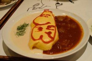 Tasty omu-rice at the Moomin cafe