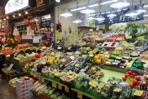 Fruits and vegetables are also sold