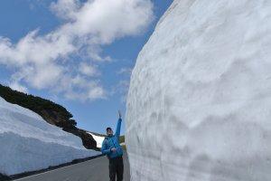 Tall snow walls