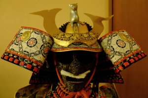 Closeup of the daimyo's helmet