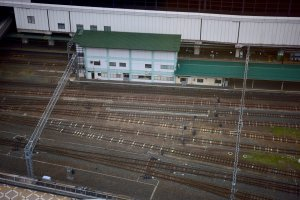 Morioka Station down below