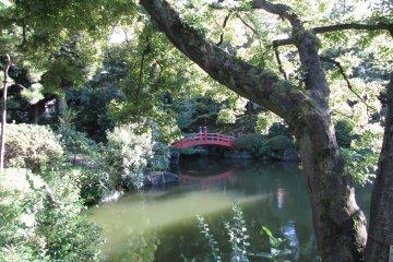 Stroll over the arch bridge