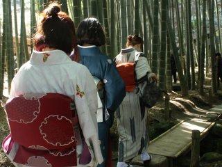 Karena tidak seramai yang di Kyoto, taman ini jadi sangat enak dipakai untuk foto-foto