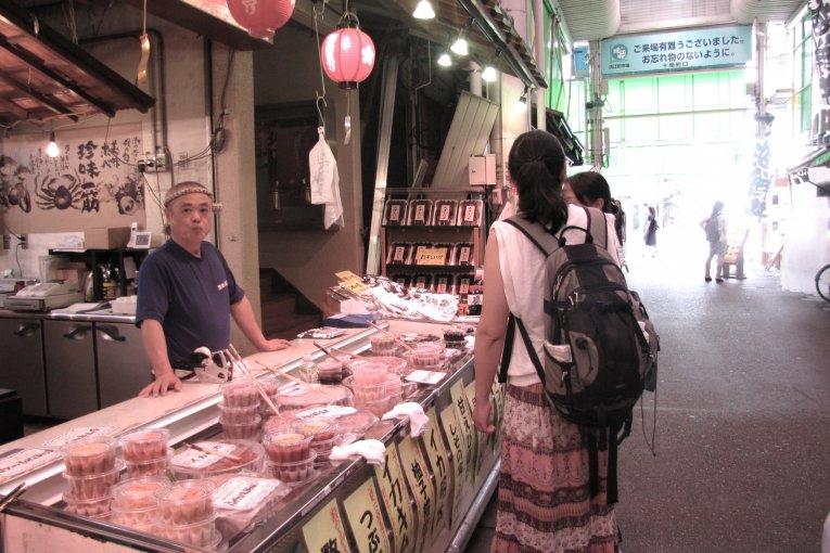 ตลาด Omi-cho แห่ง  Kanazawa