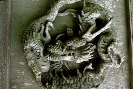 Naga-naga Gagah di Kuil Haruna