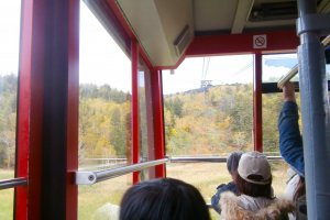 Inside the ropeway carrier