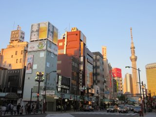 Asakusa and Skytree in the evening