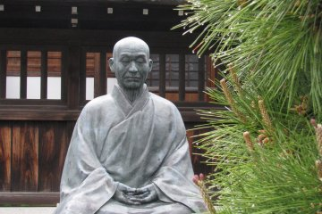 The monument to Kodo Sawaki – famous in Japan zen master