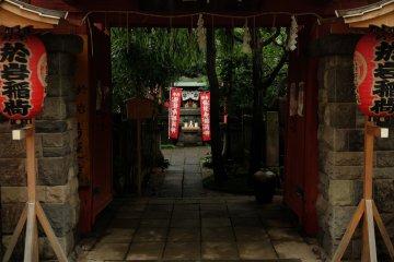 Outside the shrine