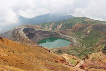 Okama at Mt Zao