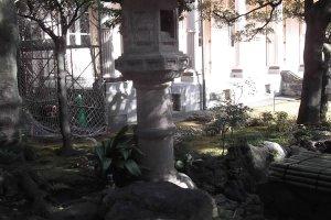 A lantern in the garden