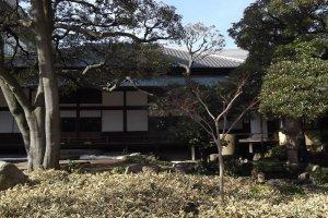Outside the Japanese residence