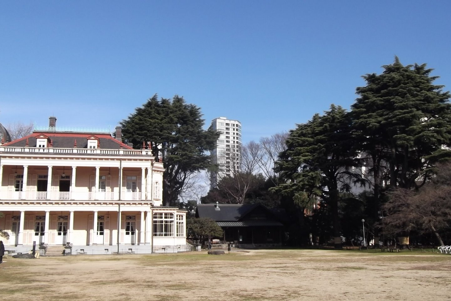 A view across the lawn