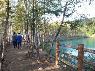 Con đường đi bộ dọc theo hồ