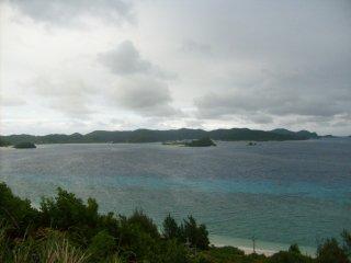 Nishihama beach on Aka