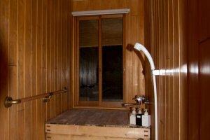 Bathroom made of wood
