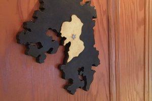 แผนที่บอกจังหว้ดต่างๆ ในเกาะคิวชู