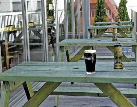 Your Guinness is waiting on the Failte patio