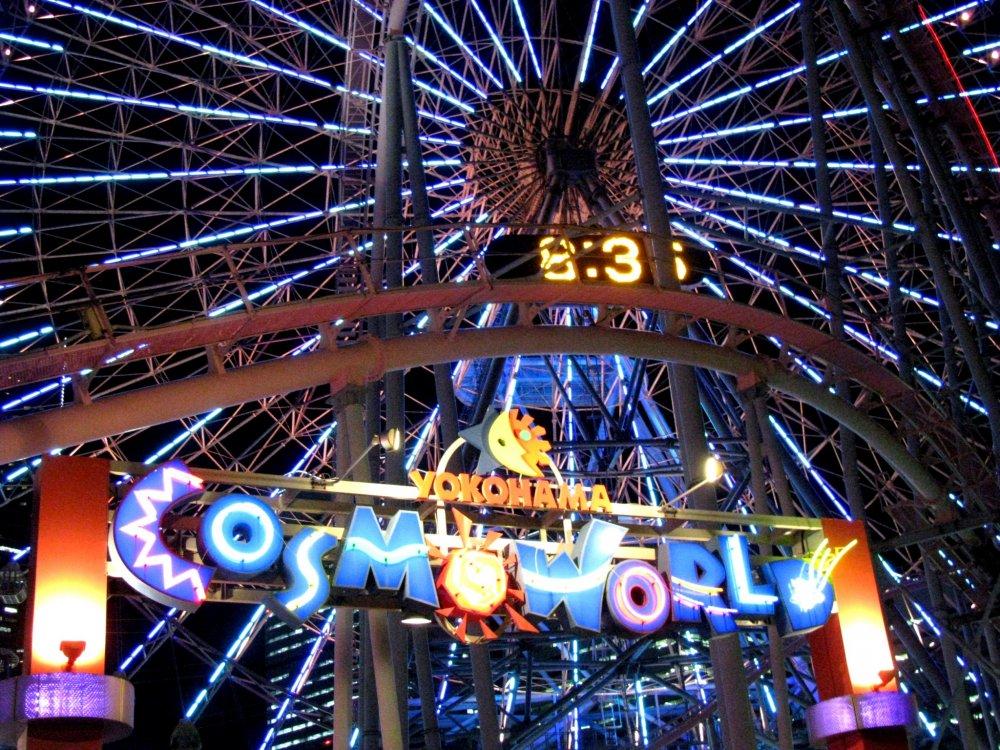 The entrance to the amusement park