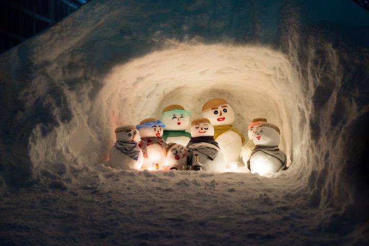 Yukidaruma : Le festival des bonhommes de neige