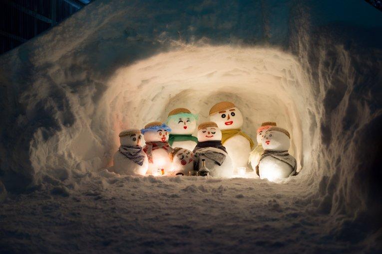เทศกาล Yukidaruma Snowman