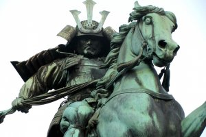 Kusunoki Masashige (samurai of the 14th century) statue near the Imperial Palace, Tokyo