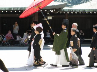 Japanese wedding procession