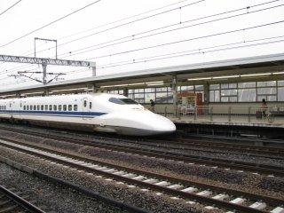 My first journey by shinkansen!