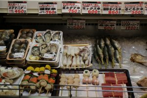 Seafood ready and waiting to be barbecued by visitors