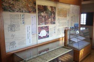 Thông tin trưng bày thể hiện quá trình vươn lên đỉnh cao quyền lực của Toyotomi Hideyoshi