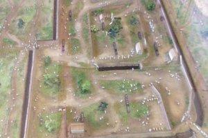 Sa bàn thể hiện thiết kế nguyên gốc của Thành Sunomata