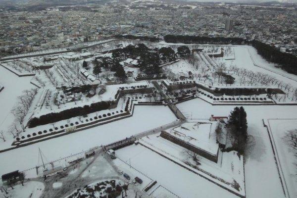 La forteresse Goryokaku depuis la tour d\'observation