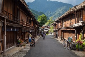 Tsumago-juku, a short walk from the inn