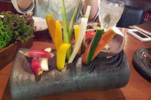 Another view of Matagi Cauda's fresh veggies