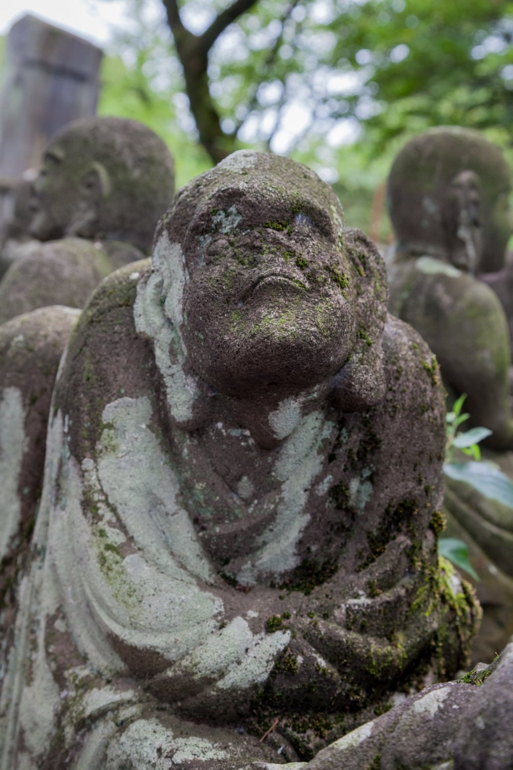 Every statue was carved with a unique facial expression