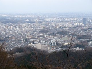 The view to Tokyo from Takaosan