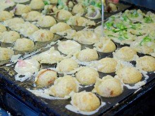 Takoyaki at Tempozan Marketplace