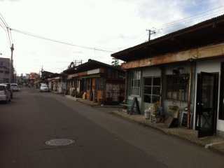 Une rue du quartier de marché de Shimomachi, l'ancien centre ville de Niigata
