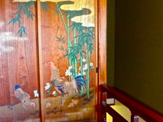 Gorgeous painting on sliding door