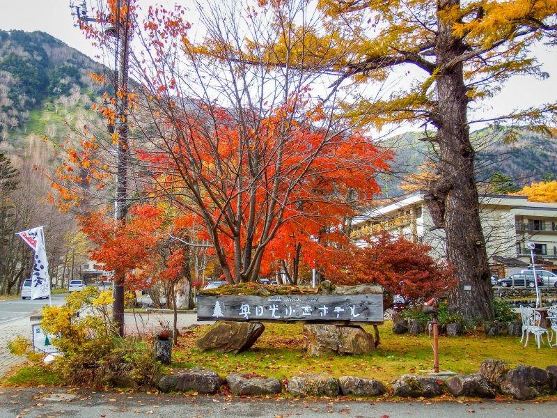 Starting off from the highest point first, the area around Yumoto Onsen boasts many interesting colors