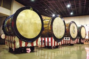 A set of enormous drums call the museum home.