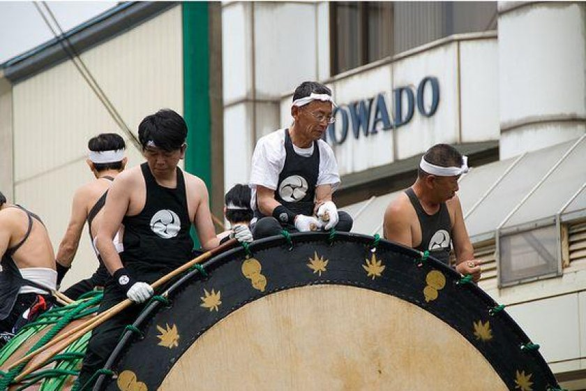 Only the most experienced drummers are allowed to play the biggest drum in the world.