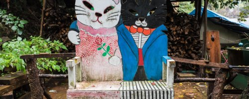 Cat Alley In Onomichi