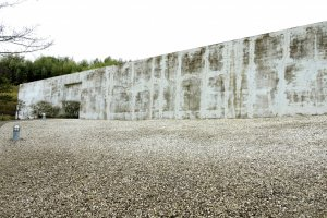The first concrete wall
