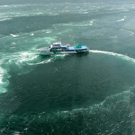 Naruto Whirlpools From the Bridge