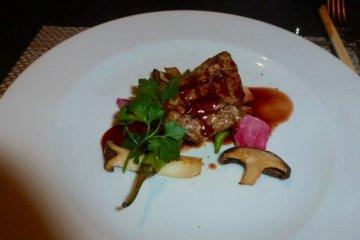 Steak from the dinner