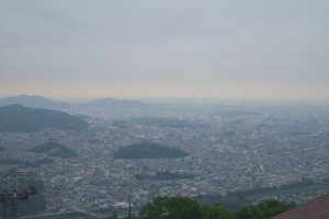 View of Himeji area from top of Mt. Shosha