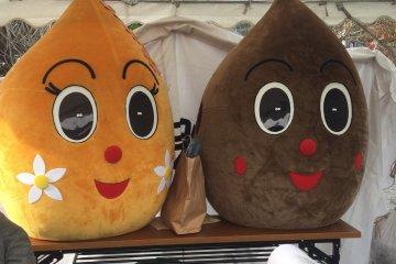 Chichibu's soba mascots.