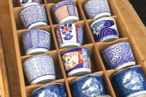 Gorgeous cups for the dipping sauce.